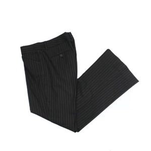 Theory Stripe Stretch Wool Wide Leg Trousers Pants